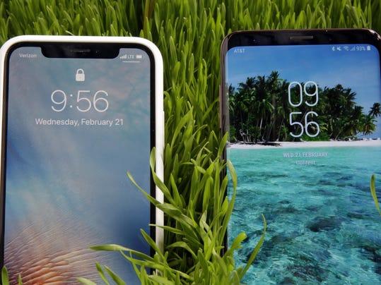 iPhone X,Samsung S9 Plus