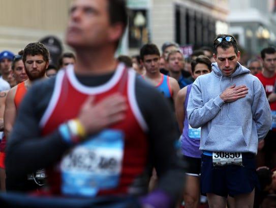 December 2, 2017 - Marathon runners partaking in the