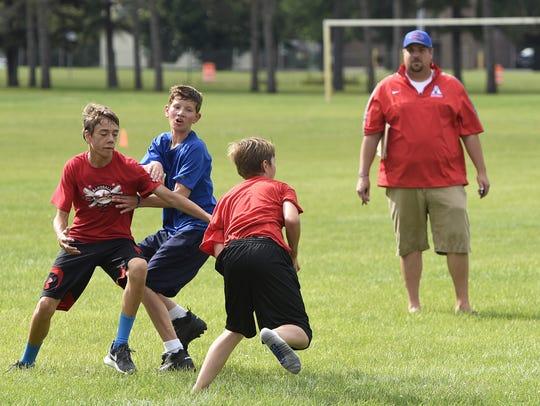 Apollo High School head football coach Justin Skaalerud