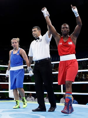 Claresa Shields prevails in the middleweight quarterfinals Wednesday.