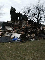 Fire destroyed the rental home of Harold Semear's family