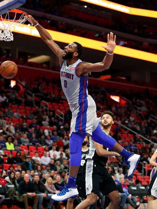 NBA: San Antonio Spurs at Detroit Pistons