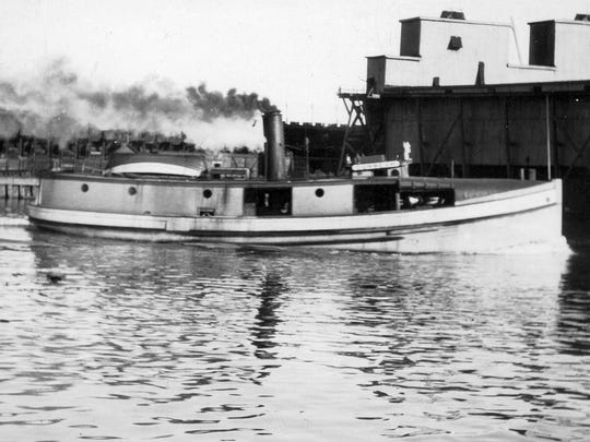 The tug, SUNBEAM was built by Burger Boat Co. in 1917 for Roy K. Smith, Carl Koehn, and Delos H. Smith, of Sheboygan, WI. The 71 ft. vessel was steam powered.