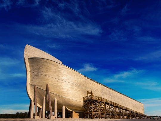 The life-sized replica of Noah's Ark in Williamstown,