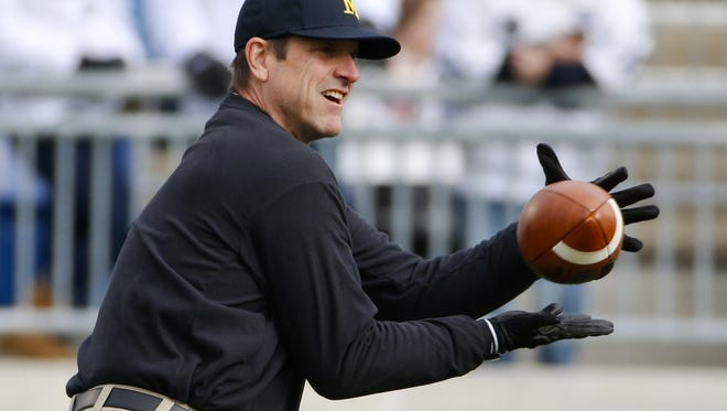 As a player at U-M, Wolverines' coach Jim Harbaugh won both of his starts against the Buckeyes — the second fulfilling his guarantee of a victory.