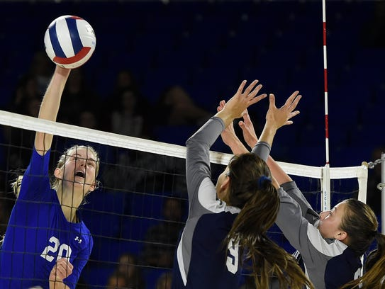 Brentwood's Garrett Joiner missed her senior season  of high school volleyball, but helped lead her club team to a national title.