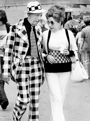 Love wife Paula, 1974, Indianapolis Motor Speedway.