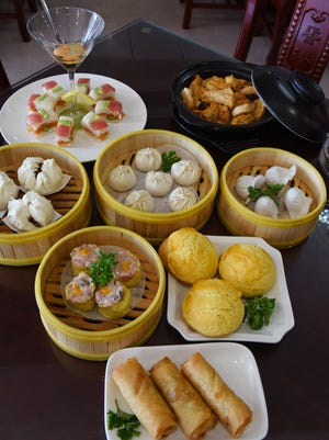A variety of the dum sum, sushi, shumai and other delights at Hong Kong Tea House near Kroger on I-55 Frongate Road in Jackson.