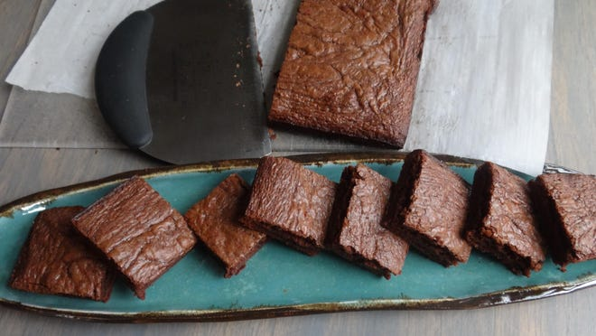 Three-ingredient brownies can be whipped up in 20 minutes with Nutella, flour and a couple of eggs.