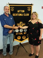 Donna Glover, Afton Sertoma's president-elect, with