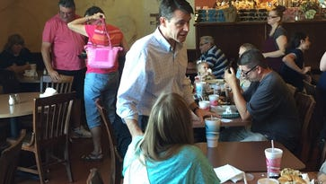 Todd Young campaigns in Muncie