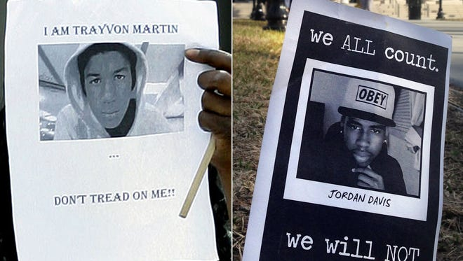 The deaths of Trayvon Martin and Jordan Davis seem similar, but the trials are different.