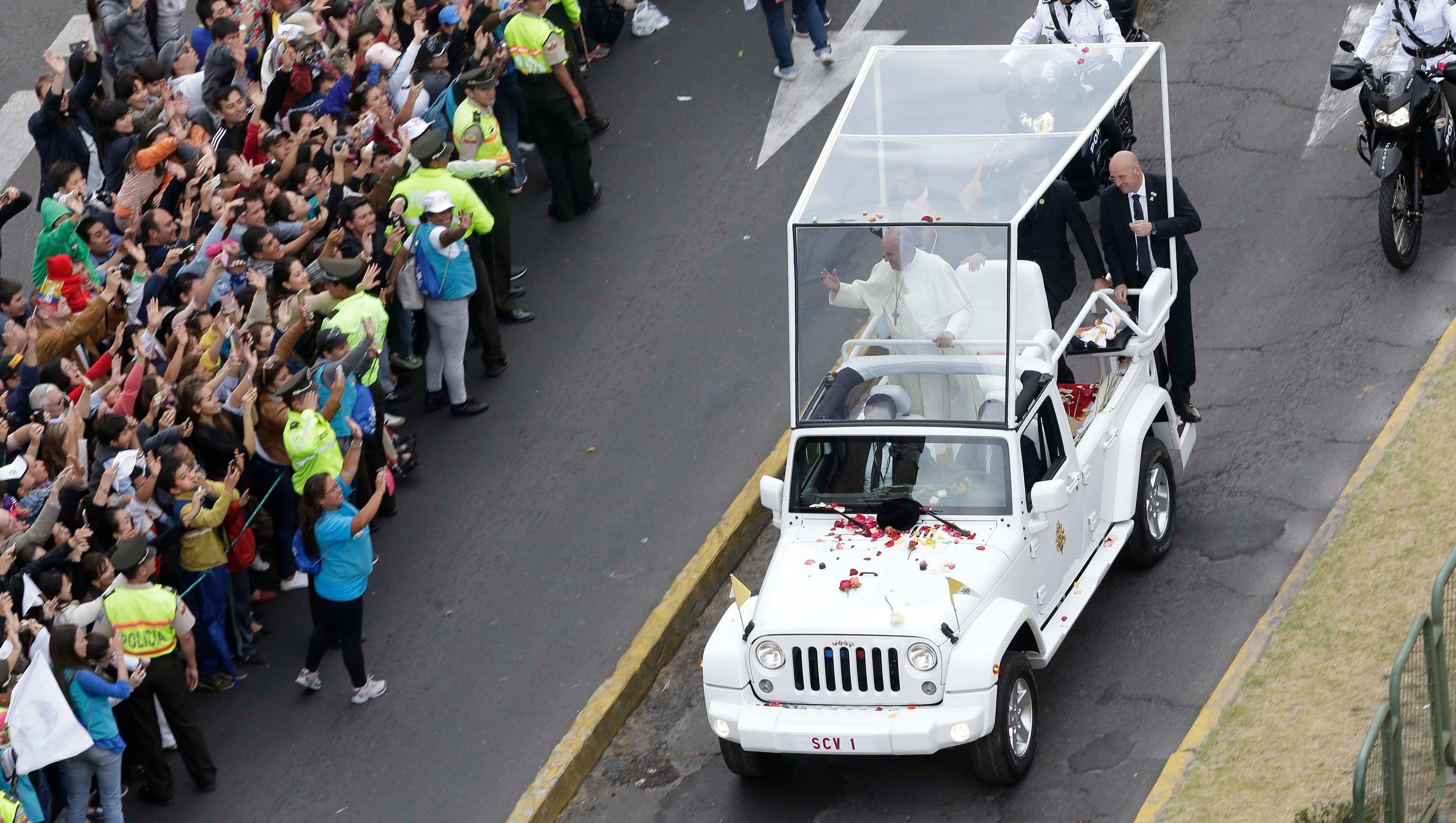 Best Jeep Wrangler >> Pope Francis' popemobile is Jeep Wrangler for U.S. visit