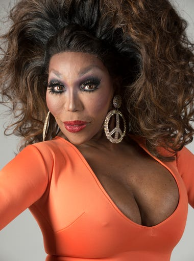 is a female impersonator Mokha Montrese performed at the last New Year's Eve celebration at the Connection Night Club. Dec. 31, 2015.
