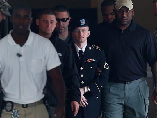 Chelsea Manning al momento de ser detenido.