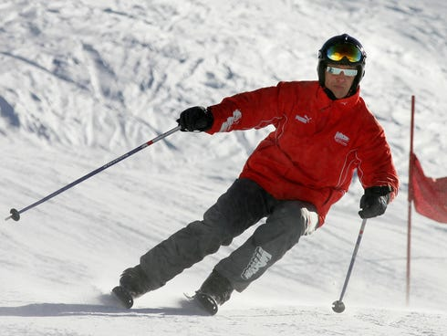 Seven-time F1 world champion Michael Schumacher, 44, suffered a head injury in a skiing accident in Meribel in the French Alps, according to local media.