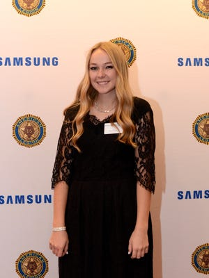 Heather Stout of Hurricane received a $10,000 Samsung American Legion National Scholarship and was honored for her accomplishments during a ceremony in Washington, D.C.