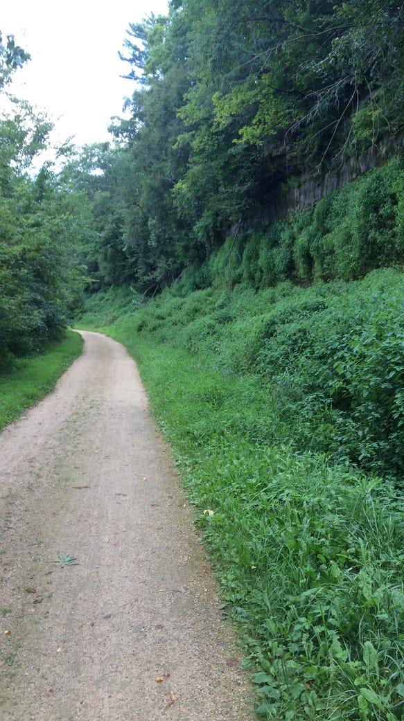 I ran on the Red Cedar State Trail in Menomonie on