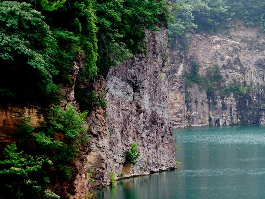 A scene at Fort Dickerson Quarry in Knoxville, Tennessee