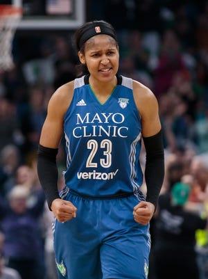 Minnesota Lynx forward Maya Moore (23) had another big game