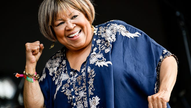 Mavis Staples performs during the Bonnaroo Music and Arts Festival in Manchester, Tenn., Saturday, June 9, 2018.