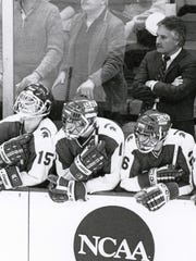 Coach Ron Mason won 924 college hockey games, including 635 over 23 seasons with MSU. He also sent 12 Spartans on to play in the Olympics for the United States, Canada, Norway and Italy.