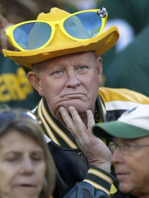 Things were somber Sunday as the Packers lost to the Lions at Lambeau Field.