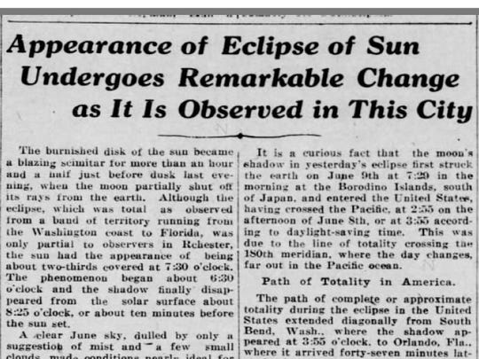 An article from an inside page of the June 9, 1918,