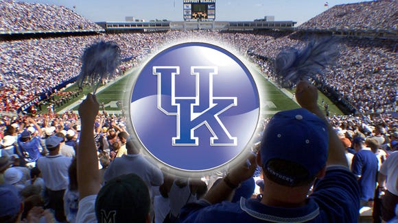 University of Kentucky Football in Commonwealth Stadium in Lexington, Ky.