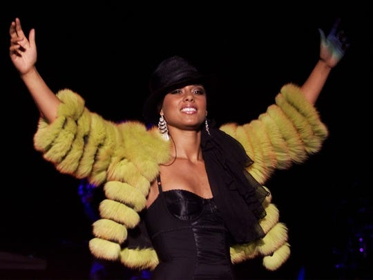 2002: Alicia Keys at the Iowa State Fair Grandstand.