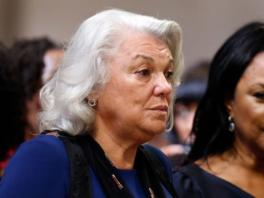 Actress Tyne Daly attends a memorial service for actress Ruby Dee.