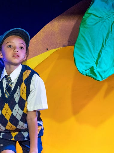 Ava Ledezema rehearses for Encore Theater's production of James and the Giant Peach on Monday, June 25, 2018.