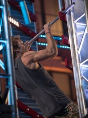 """Grant McCartney takes on an obstacle on """"American Ninja"""