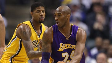 Kobe Bryant scored 19 points, but Paul George had 21 to lead Indiana to the win.