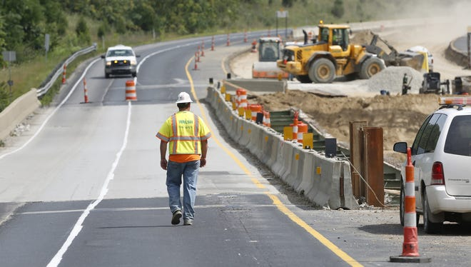 Interstate 65 was closed near Lafayette for more weeks in August and September due to instability.