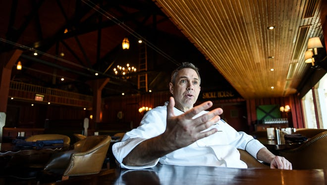 Bart Umidi, executive chef of the Hershey Lodge, spoke on Tuesday, March 29, 2016 about some of the upcoming dishes he and his team created for Hershey Restaurant Week.