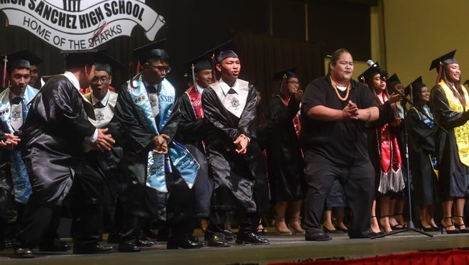 The Simon A. Sanchez High School Class of 2017 Commencement Exercise was held at the University of Guam Calvo Field House on June 6, 2017.