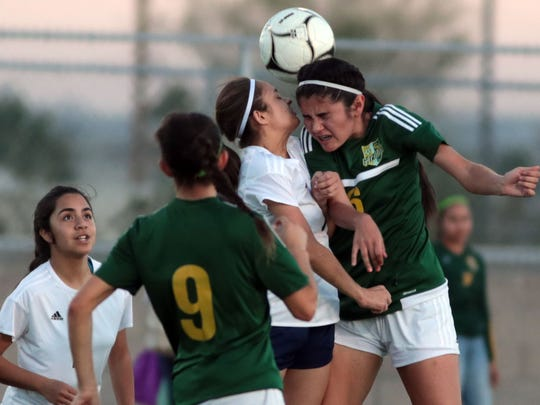 Coachella Valley and Desert Hot Springs soccer action on Wednesday, January 31, 2018 in Desert Hot Springs.