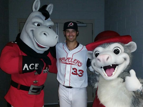From left, Ace, Los Angeles Angels of Anaheim pitcher
