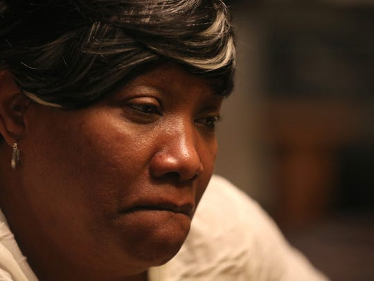 Trevyan Rowe's aunt, Velma Handy, fights back tears