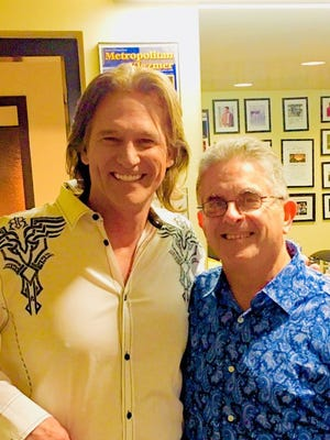 Billy Dean, left, and Marvin Goldstein are raising money to send veterans to D.C. during a concert on Friday night at TCC.