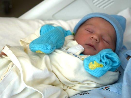 Ayden Alexander McIntire was the first baby born in Springfield in 2016.