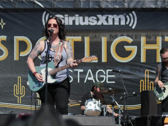 Apr 29, 2018; Indio, CA, USA; Ashley McBryde performs