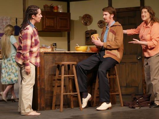 Julie Fergus as Hannah, Evan Proffer as Paul, and Lynn