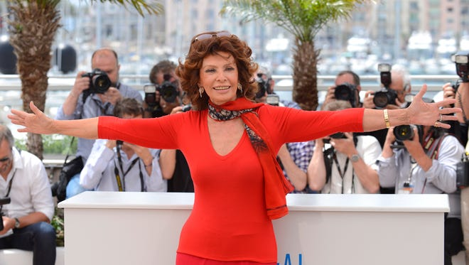 "Actress Sophia Loren during a photo call for ""Human Voice"" (Voce Umana) at the 67th Cannes Film Festival in southern France on May 21, 2014."