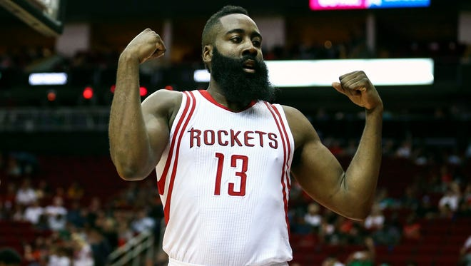 Houston Rockets guard James Harden (13) knows he could have a much better season this year over last year.