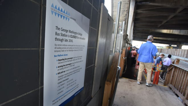 The George Washington Bridge Bus Station has been under renovations for two years and suffered countless delays. Now the renovations are expected to be finished in April 2017.