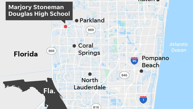 Map of school shooting.