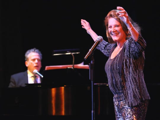 Pianist Billy Stritch and vocalist Linda Lavin, shown performing at the Annenberg Theater, will appear this weekend at Michael Holmes' Purple Room.