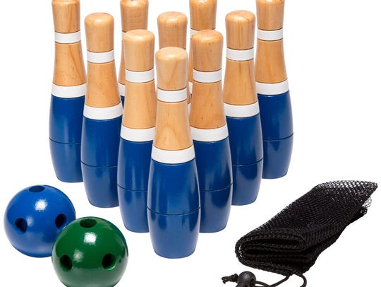Wooden Lawn Bowling Set from Houzz